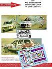 Decals 1/18 réf 807 Renault 12 Break SINPAR BRIAVOINE OGER 1er Cote Cote 1977