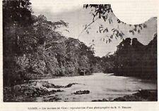 GABON RAPIDES DU COMO RAPIDS IMAGE 1903 OLD PRINT