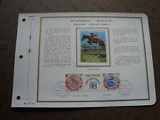 MONACO - document ceres 1er jour 27/4/72 - timbre yvert et tellier n° 892 893