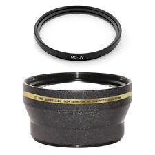 72mm 2.2x Telephoto Lens + MCUV Filter for Sony SLT-A77 A77 HXR-NX5U HVR-Z5U Z7U