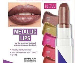 Avon Color Trend Kiss 'n' Go Metallic Moisture Lipstick SPF15 Choose Your Shade