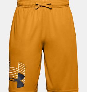 Under Armour Boys' UA Prototype Logo Shorts Golden Yellow Sz Youth M, L, XL NWT