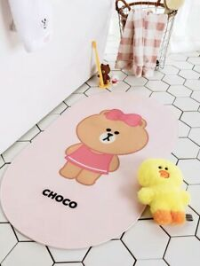 Line Friends Choco Non Slip Shower Bath Mat