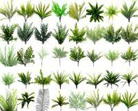 New Artificial Fake Leaves Bunch Greenery Foliage Leaf Fern Bush Green Home Deco