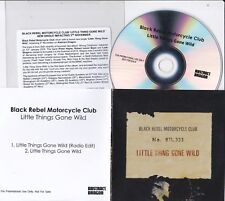BLACK REBEL MOTORCYCLE CLUB  LITTLE THING GONE WILD RARE 2 TRACK PROMO CD
