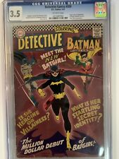 Detective #359 – DC Comics Jan, 1967. 1st appearance of Bat Girl. CGC graded 3.5