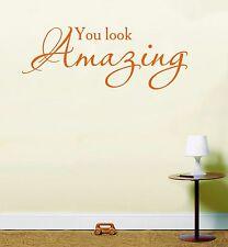 You LOOK Wall Art Sticker Inspirational Quote Lswa7113 Orange Large