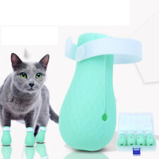 4pcs/Set Protective Gear Bath Durable Adjustable Cat Claw Gloves Cat Foot Cov_HC