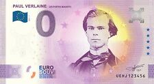 """BILLET 0  EURO PAUL VERLAINE  """" Les poètes maudits """" FRANCE 2021 N° DIVERS"""