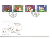 Liechtenstein Minkus #572 - 575 - European Architectural - First Day of Issue