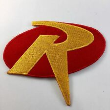ROBIN R Uniform Logo- BATMAN Animated Series Iron-on Embroidered Patch no-221
