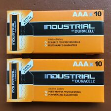 20 Duracell Industrial AAA Alkaline Batteries Replaces Procell LR03 EXPIRY 2026