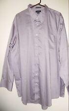 Lands End pinpoint oxford button dress shirt mens size 20/35 Big