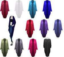 Womens Ladies Batwing Open Boyfriend Long Maxi Kimono Shawl Cardigan Dress Top