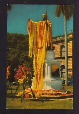 c1951 Nani Li'i King Kamehameha Statue Honolulu Hawaii postcard