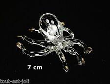 magnifique octopus en verre avec dorures, miniature de collection   G10-08