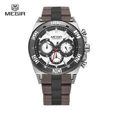 MEGIR 3009GSSBN-1N7 chronograph military water resistant quartz watch men