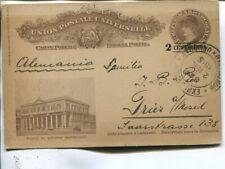Uruguay 2/3 c postal card to Germany 1915