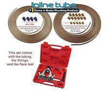 1999-2008 Chevy Gmc Truck Copper Nickel Brake Line Repair Kit Sae w/ Flare Tool