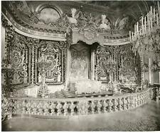 Allemagne, Bayern, Schloss Herrenchiemsee, König Ludwig II Schlafzimmer Vintage