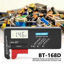 BT-168D Digital LCD Batterie-Tester Knopfzelle Volt Checker AA/AAA/C/D/9V/1.5V