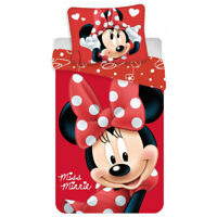 Disney Minnie Mouse Single Duvet Cover Set 140 x 200 cm   Miss Minnie