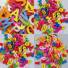 NE _ 50/100/200x letras y Números Cuentas de madera Dorso Plano Adornos Crafts N