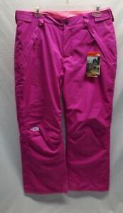 The North Face Girls' Freedom Insulated Snow Ski Pant Luminous Pink Medium NEW