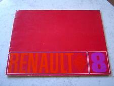 Catalogue publicitaire Renault 8 R8 Major 1968 20 pages brochure prospectus