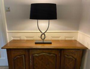 Porta Romana Organic Loop Lamp SLB12. With large Silk Shade