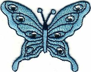 "2.25 "" Bleu Pierre Papillon Broderie Patch"