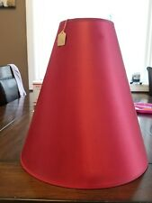 VTG crimson red Lamp Shade Red Mid Century cone shape lamp shade.