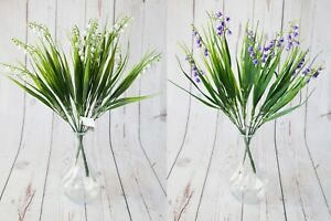 Pair Artificial Bluebells Bush 2 x 37 cm - home weddings events crafts