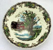 "Johnson Brothers Bros Friendly Village 8"" Round Vegetable Bowl Autumn Mist 094"