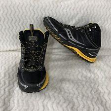 Saucony Men Pro-grid Lite Outlaw Trail Running Shoe, Black, Yellow 9.5 M US
