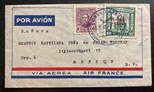 1939 Asuncion Paraguay First Flight cover to Mexico City Mexico Air france