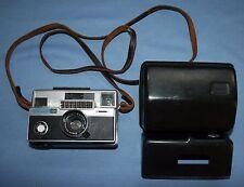 Kodak Instamatic Camera 804 w/ Hard Case Vtg Leather Strap