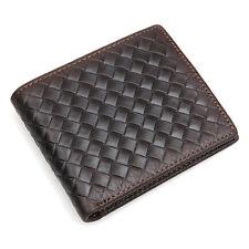 Men's Womens Vintage Leather Credit Card Holder Bifold Wallet Money Holder Purse