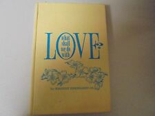 RARE VINTAGE What Shall We Do With LOVE by Earnest Eberhard Jr. 1961