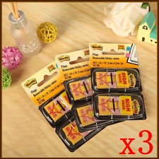 "3x""Sign Here"" ""Message Flags"" ""Sticky Flags"" 25mm Twin Pack 100 Removable Sticky"