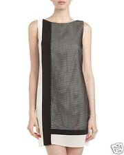 Julia Jordan Women's Size 10 Black & Ivory Shift Overlay Sleeveless Dress