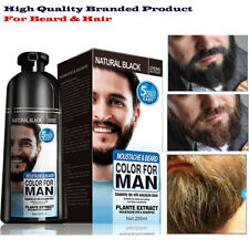 Hair Dye Color Beard Permanent Shampoo Wash Natural Black Colour Men Dyin 200ML