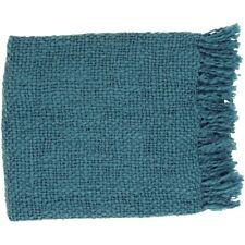 Tobias by Surya Throw Blanket, Teal - TOB1010-5171