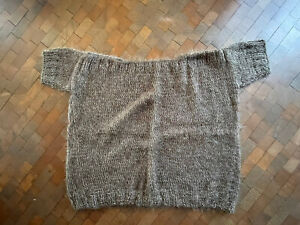 pullover selbstgestrickt, lana grossa, mohair, Schokobraun