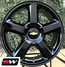 "Chevy Tahoe OE Replica Wheels 20"" inch 2007-2013 LTZ Gloss Black Rims 6x5.50"""