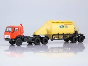 Scale model truck 1:43 KAMAZ-54112 with semitrailer-flour carrier ASP-25