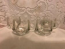 Punch Cup w/Round Glass Ball Handles - Set of 4 Punch Bowl Glasses