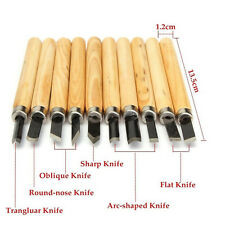 Best 10 Pcs Wood Carving Hand Chisel Tool Set Woodworking Professional Gouges