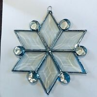 """6"""" Stained Glass Snowflake Suncatcher-Assorted colors Made in USA CCI"""