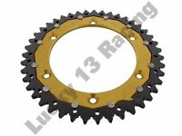 ZF rear sprocket 43 tooth 520 gold and black for Beta Gas Gas Suzuki Sherco SWM